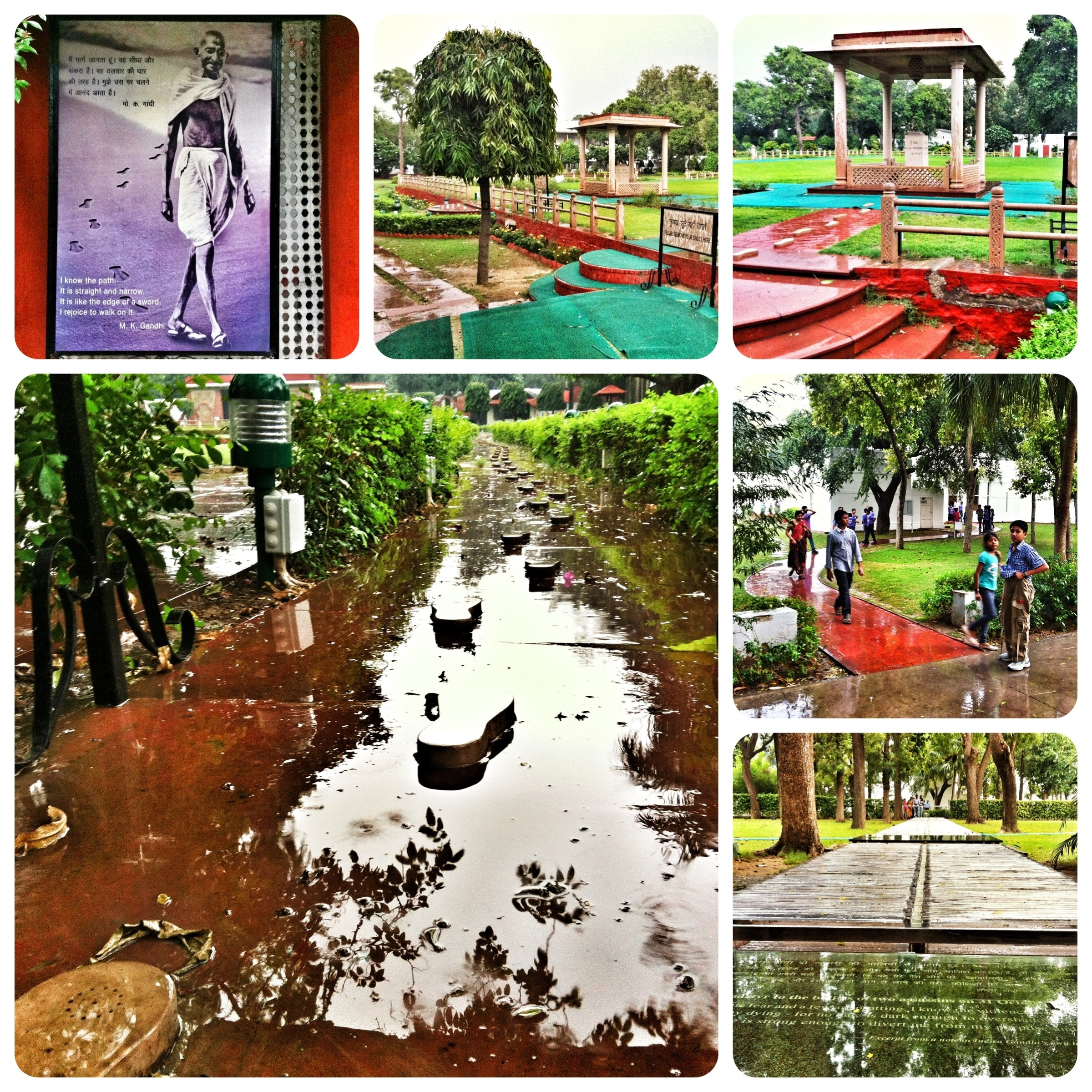 Impressionen von der Gandhi-Gedenkstätte.