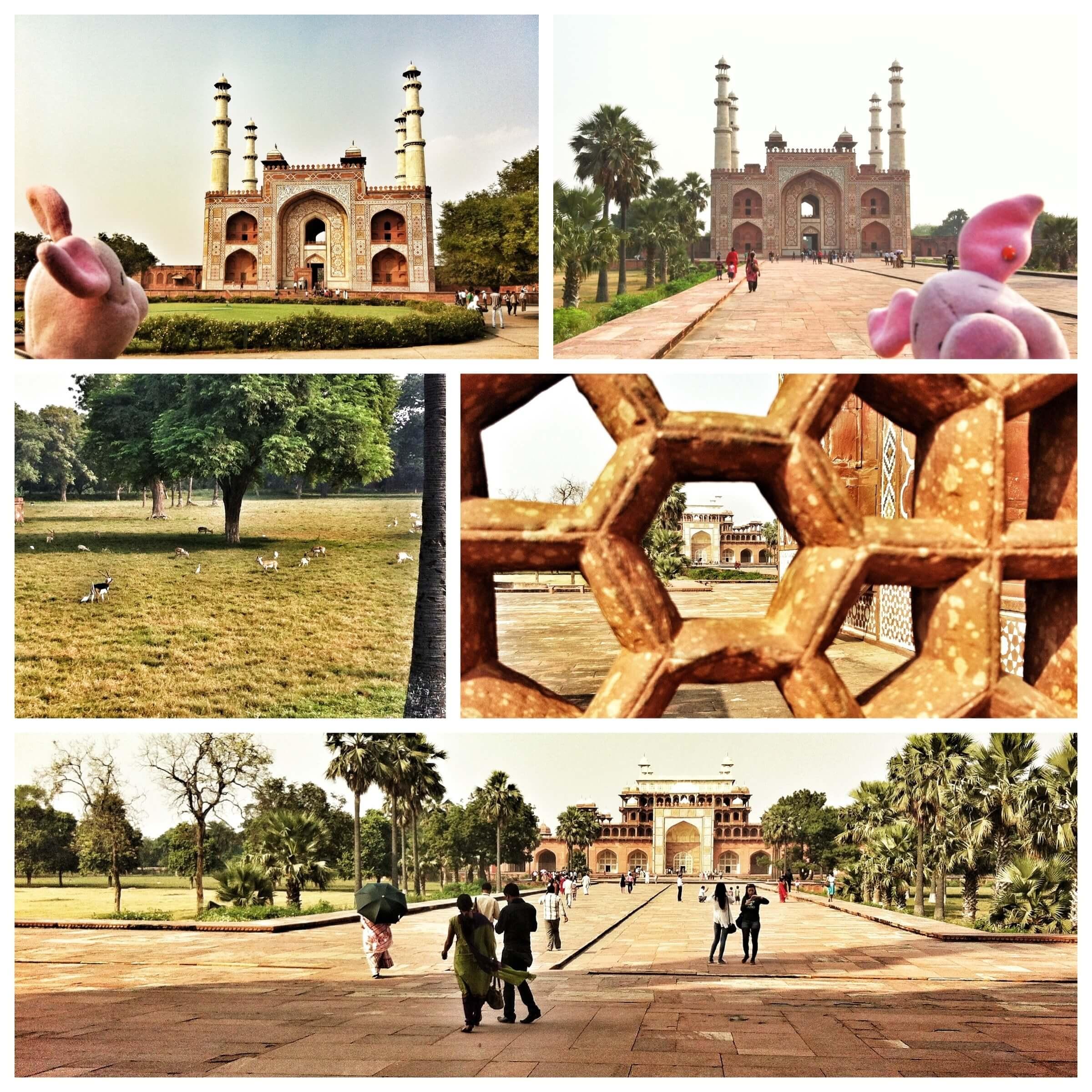 Besichtigung des Akbar-Mausoleum