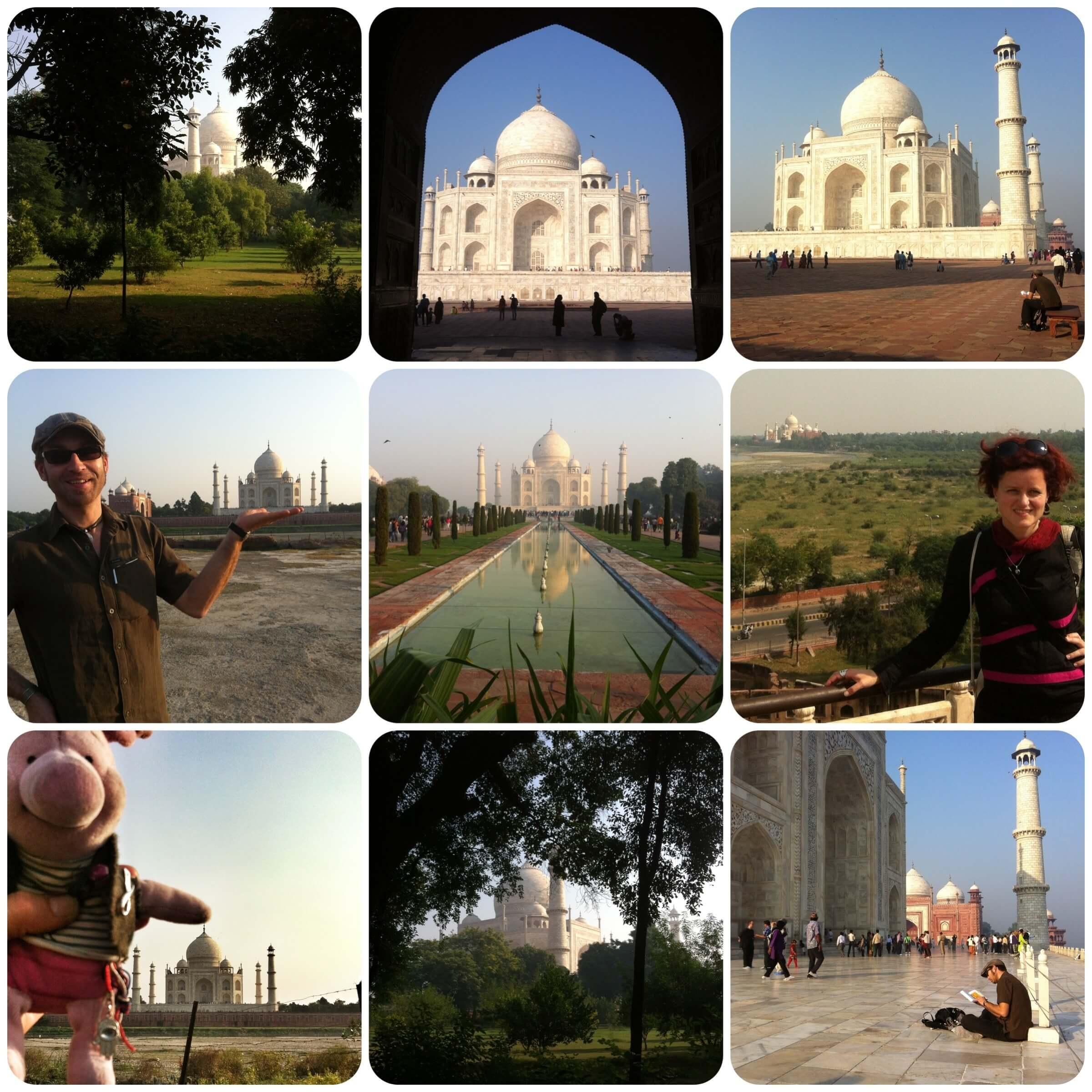 Liebe in Marmor verewigt: das Taj Mahal.