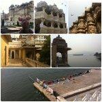 Zwischen Menschenmassen und Tollen Ausblicken auf die Seen Udaipurs.