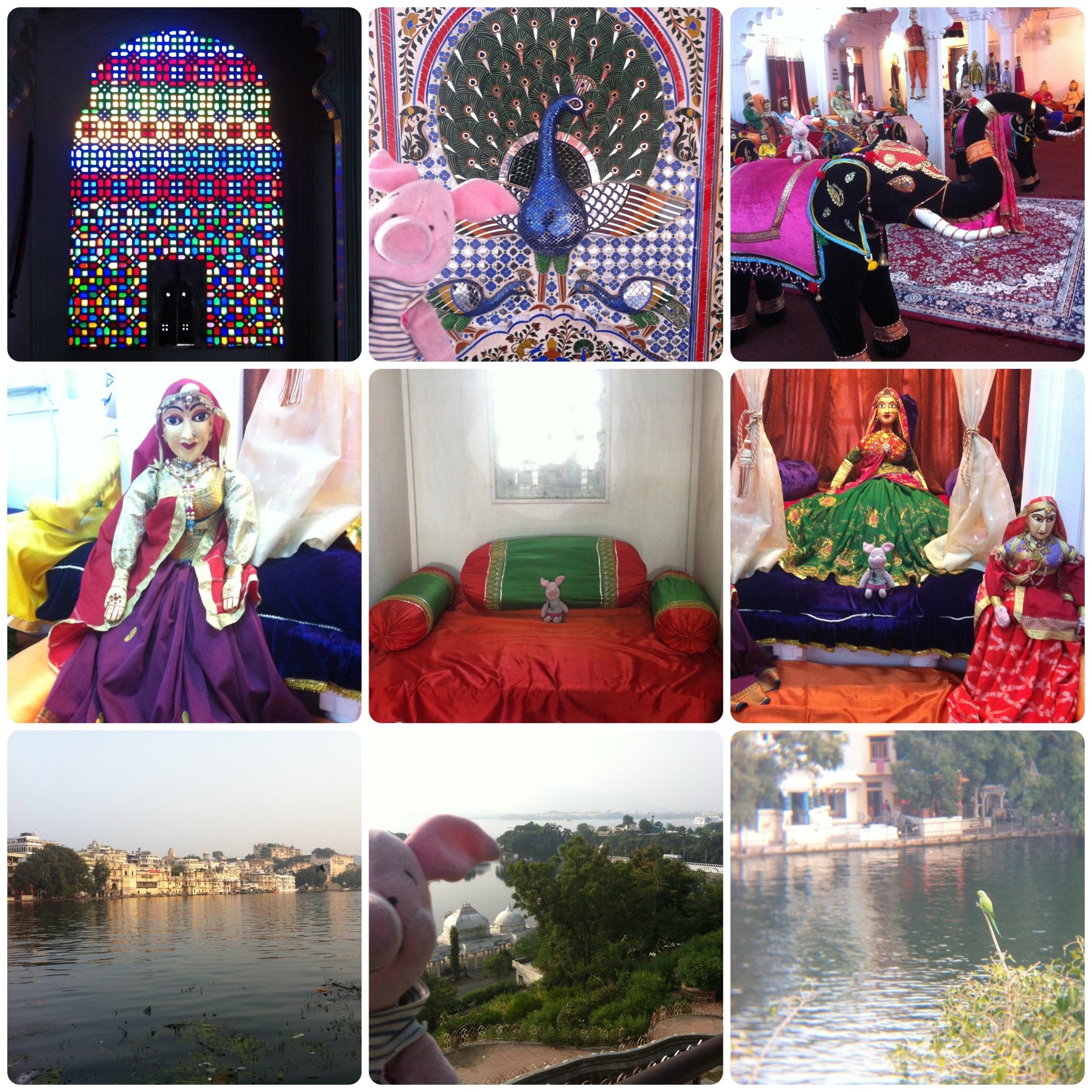 Im Museum Bagore-ki-Haveli und tolle Ausblicke auf die Seen Udaipurs