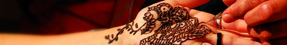 Henna-Bemalung.