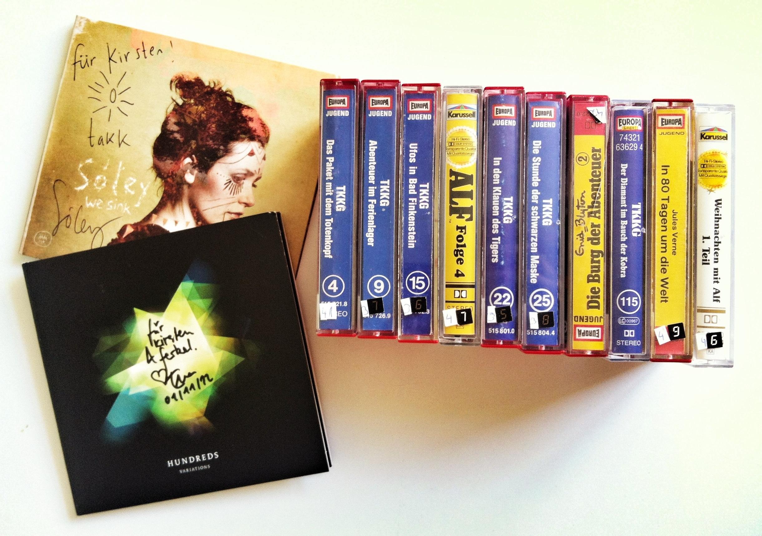 CD- und Kassetten-Sammlung