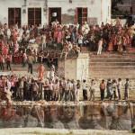 Die Unzugängliche. Durga- Prozession in Agra. Fotocollage, Triptichon, C-Print, kaschiert mit Acryl