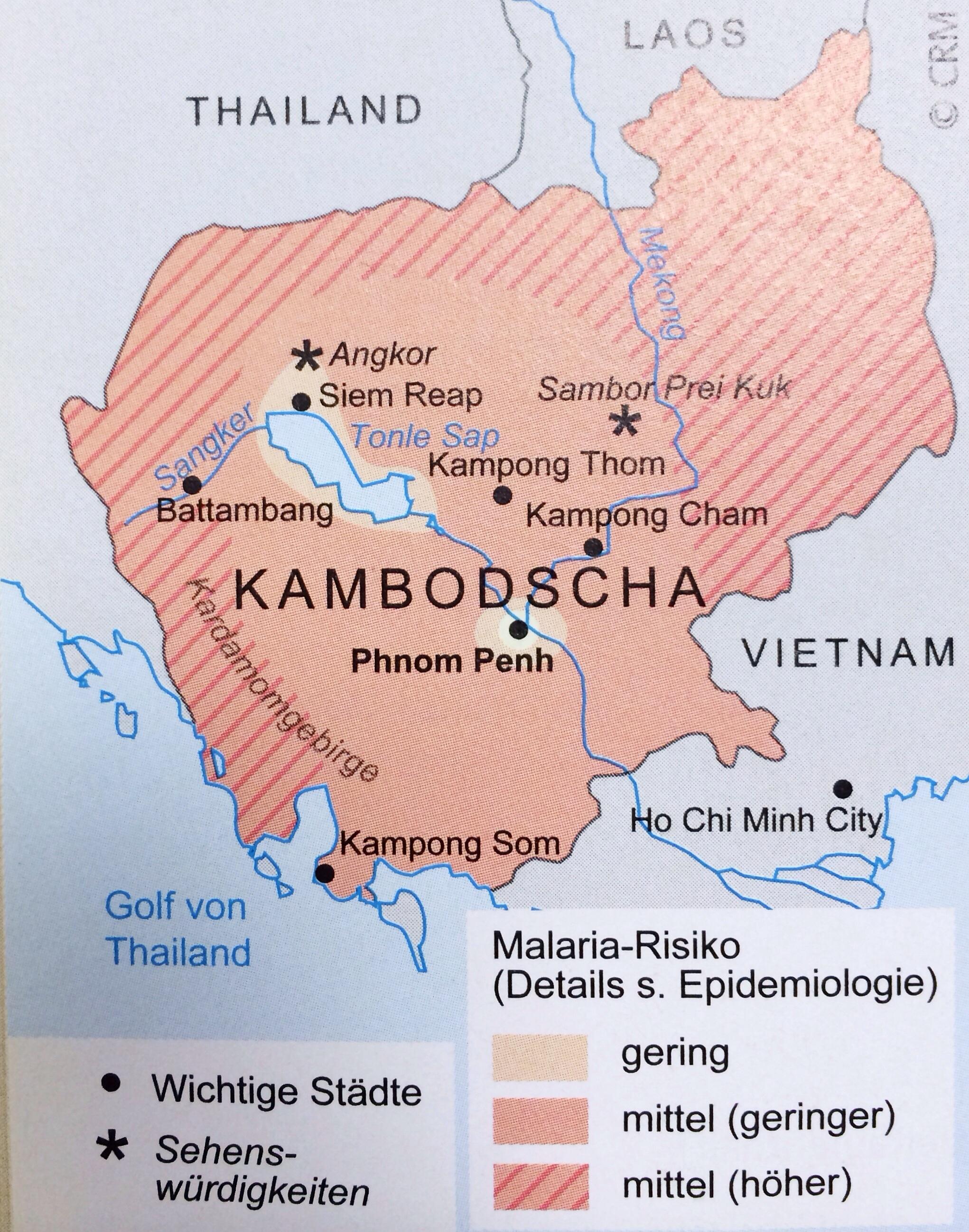Malaria Kambodscha Karte.Laos Kambodscha Bangkok Reisevorbereitungen Kiraton