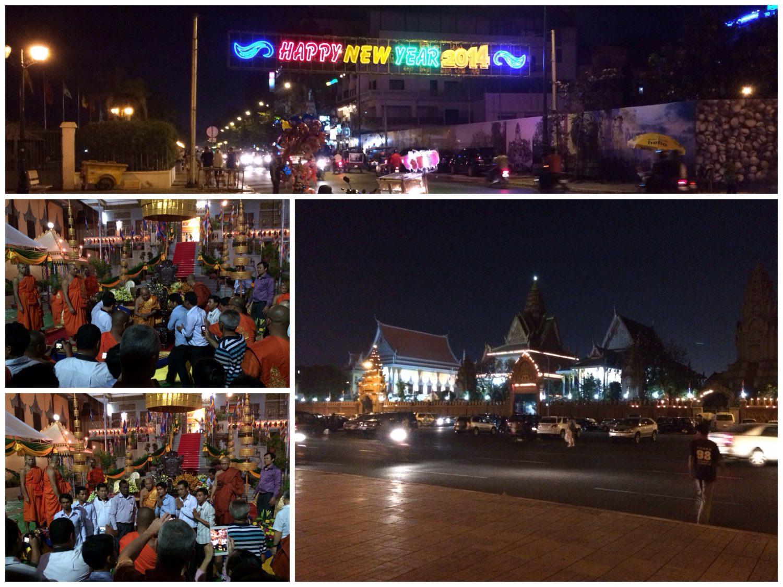 Nachts in Phnom Penh.