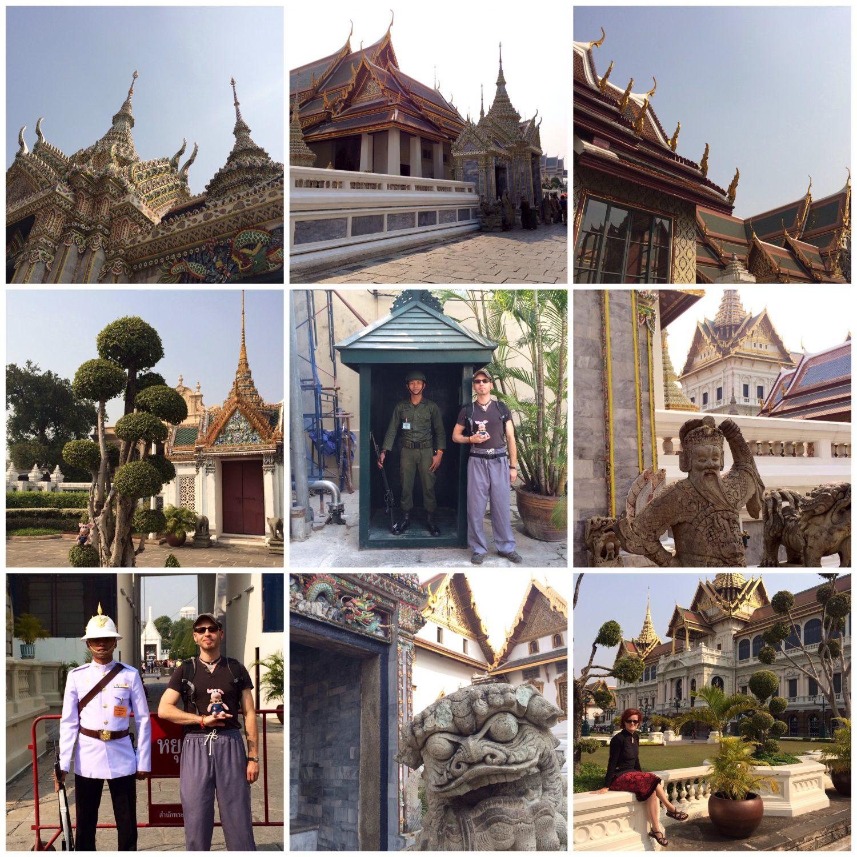 Impressionen vom Palastbesuch in Bangkok.