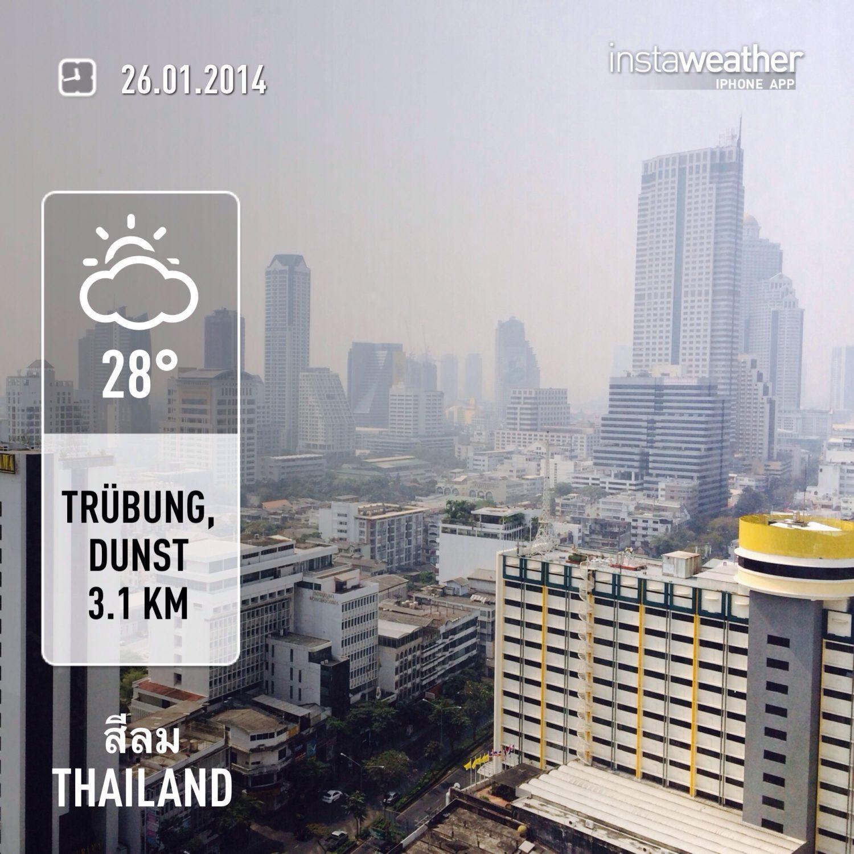 Wetter am 26.01.2014 in Bangkok.