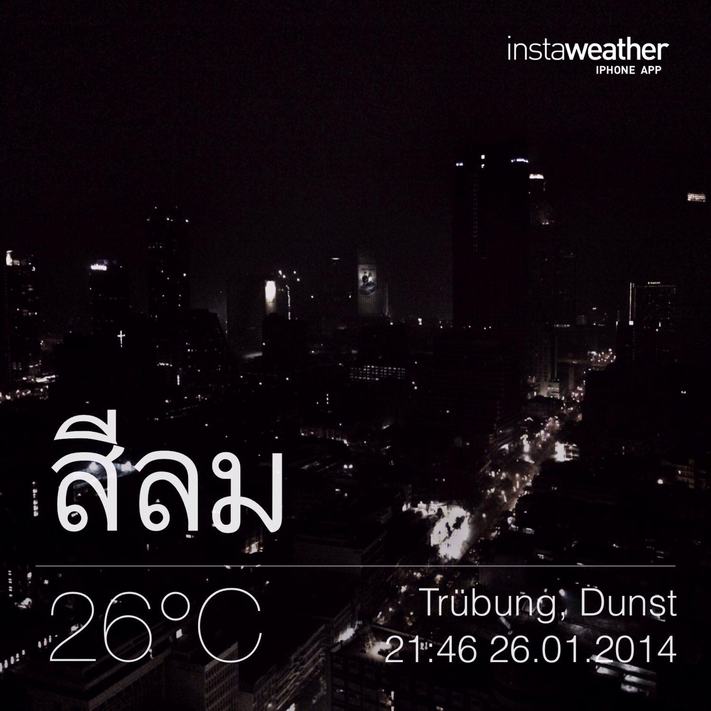 Nachts in Bangkok.
