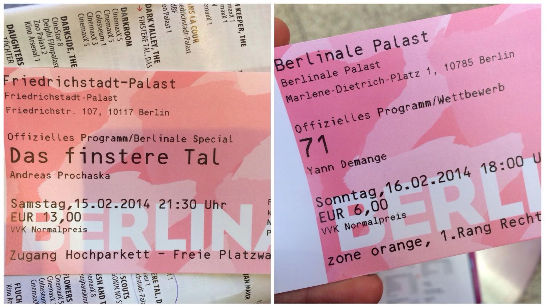 Berlinale-Karten.