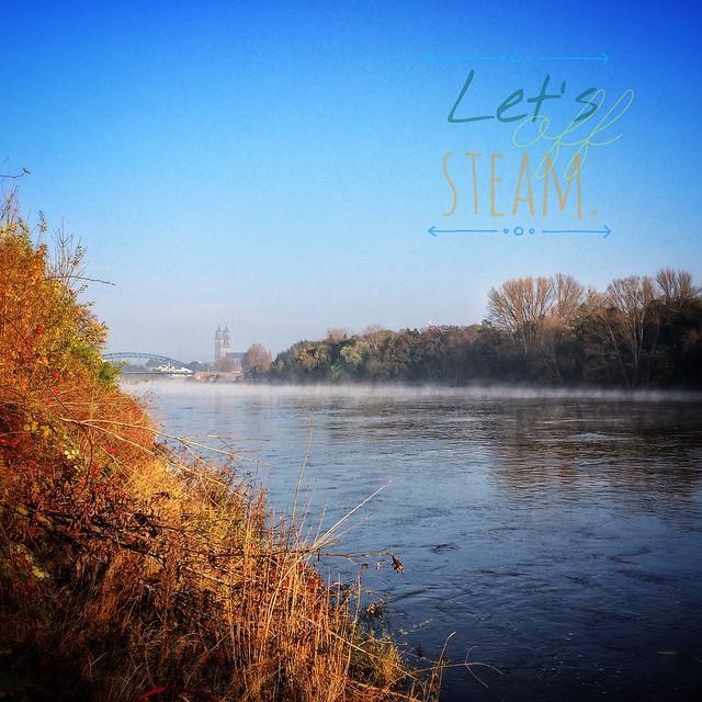 Mal ein wenig Dampf ablassen. | Let's off steam. Last wednesday (29.10.2014) morning at the River Elbe. | Herbstverzaubert. Eingefangen mit instagram, direkt vor der Haustür.