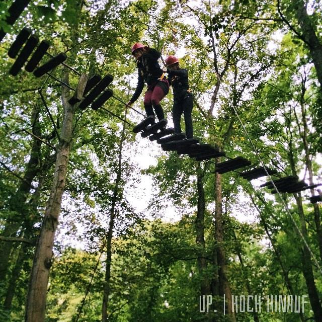 Up. | Hoch hinauf. | #erlebnispädagogik #Teamwork #Wald #quetzdölsdorf #hochseilgarten #tightrope