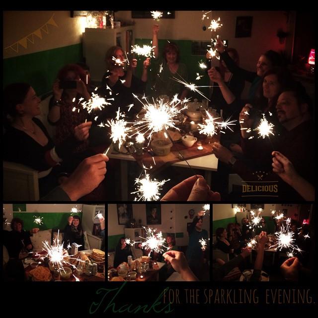 Thanks for the sparkling evening ... & the food was delicious. | Danke für den funkelnden Abend & das herrlichen Essen.