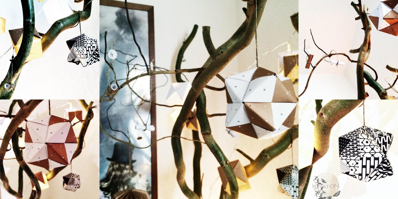 Der fertige Origami-Adventskalender.