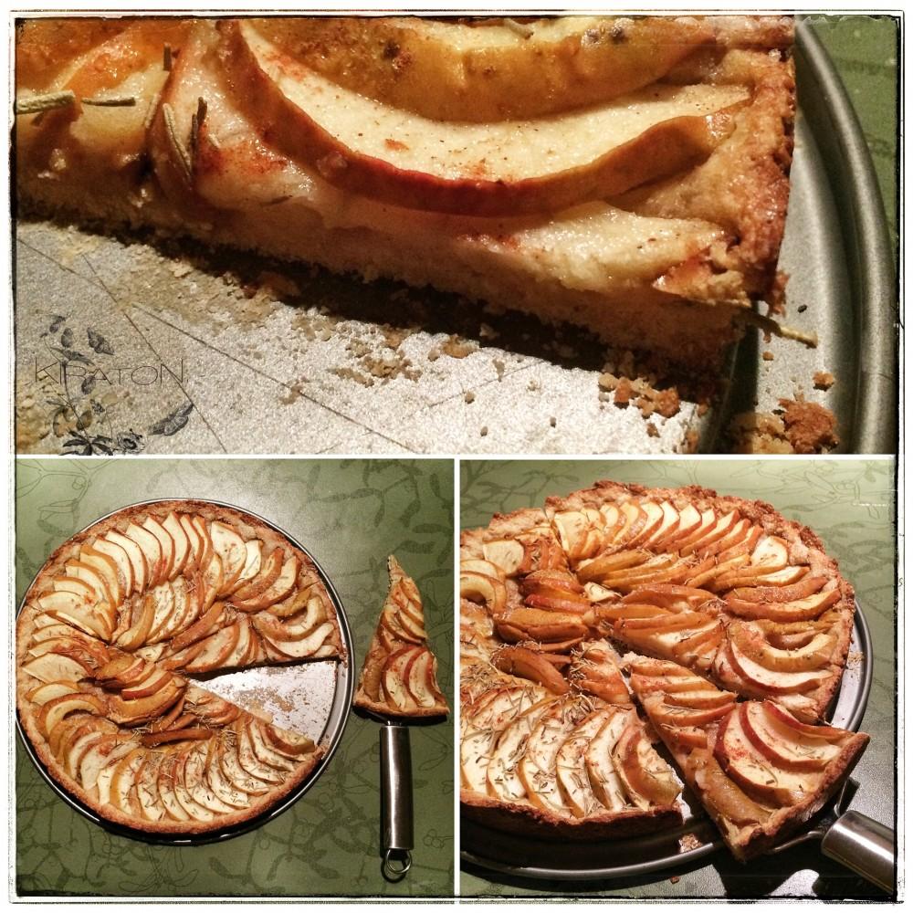 Süßes und Saures: Apfel-Tarte mit Rosmarin.