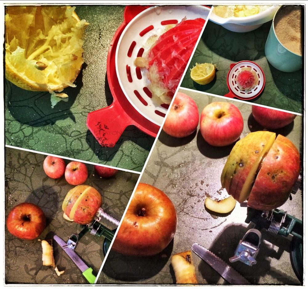 Mein geliebter Apfelschäler im Einsatz.