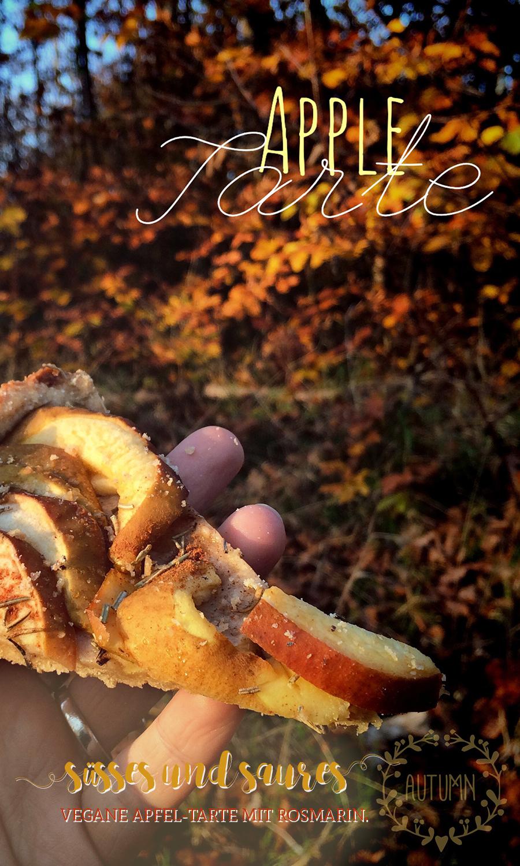 Süßes und Saures: vegane Apfeltarte mit Rosmarin