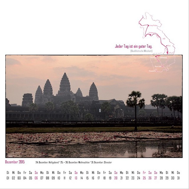 kiraton #12of14 ... My #Highlight in #Dezember: my #calender for 2015 with #pictures from #Laos & #Cambodia. It was a great #project for me. #wow Read more (only in german): http://kiraton.com/kalender-2015-laos-kambodscha/ I'm happy to join @justtravelous #12of14 session and show you 12 highlights of the past 12 month in 12 days.