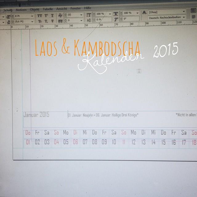Das Kalendarium ist fertig. Fehlen nur noch die Bilder.