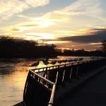 Aufgereiht! Weil es so schön war heut Morgen entlang der Elbe gleich noch ein Foto davon ...