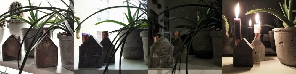Häuschen aus Zement