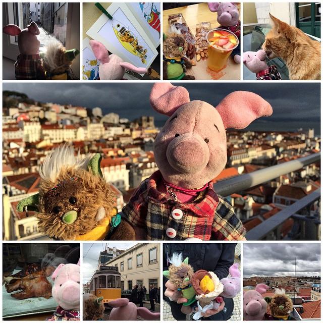 Heute Morgen aufgewacht, aus dem Fenster geschaut & den Tag für gut befunden. Los zum Trödel- & Kunstmarkt. Später noch zum Markt der Regionalen Köstlichkeiten. Zwischendurch mit ner Mietze geschmust, bis sie mir ein Ohr abkaute. Immer wieder grandiose Ausblicke. Ab & zu auch mal nicht so appetitliche Anblicke. Ne coole Straßenbahn fährt hier auch. Und das Eis ist auch supi lecker. Und der Blick über die Stadt fetzt. Lissabon, du rockst!!!
