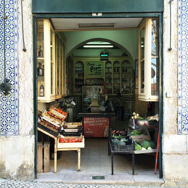 Gemüseverkauf.