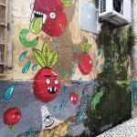 Streetart in Lisbon. Detail.