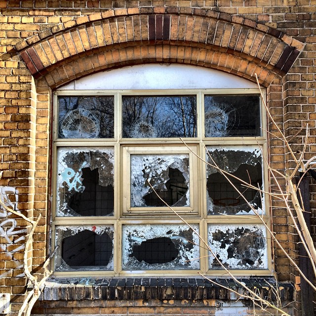 Broken windows.
