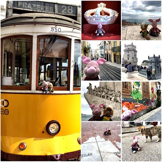 Was für ein Tag! Lisboa, my love!Straßenbahn fahren, Aus- & Ansichten genießen, Kronen tragen, Torres erkunden, (See-)Abenteuer erleben, Dinge entdecken & Mietzen erobern!