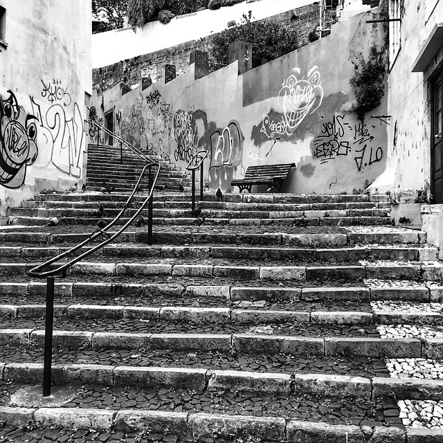 Stairs in Alfama. Lisbon.