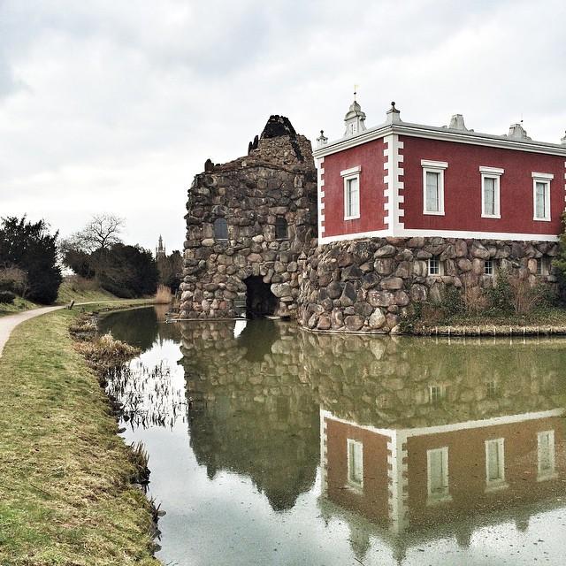 Villa Hamilton am Inselstein. Wörlitzer Park.
