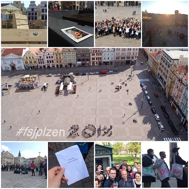 Mit strahlendem Sonnenschein belohnte uns die Kulturhauptstadt Plzeň 2015 auch an unserem letzten Tag. Wir bedankten uns dafür & für die großartige Woche hier mit einer Kulturaktion voller Musik, Flugblättern, Fotografie, Performance und einigen neuen Geocaches! Danke Pilsen - wir nehmen dich mit nach Magdeburg! Den grandiosen Abschluss bildete die DEPO2015 Restart-Vernissage. #fsjplzen2015 #plzen2015 #depo2015 @plzen2015