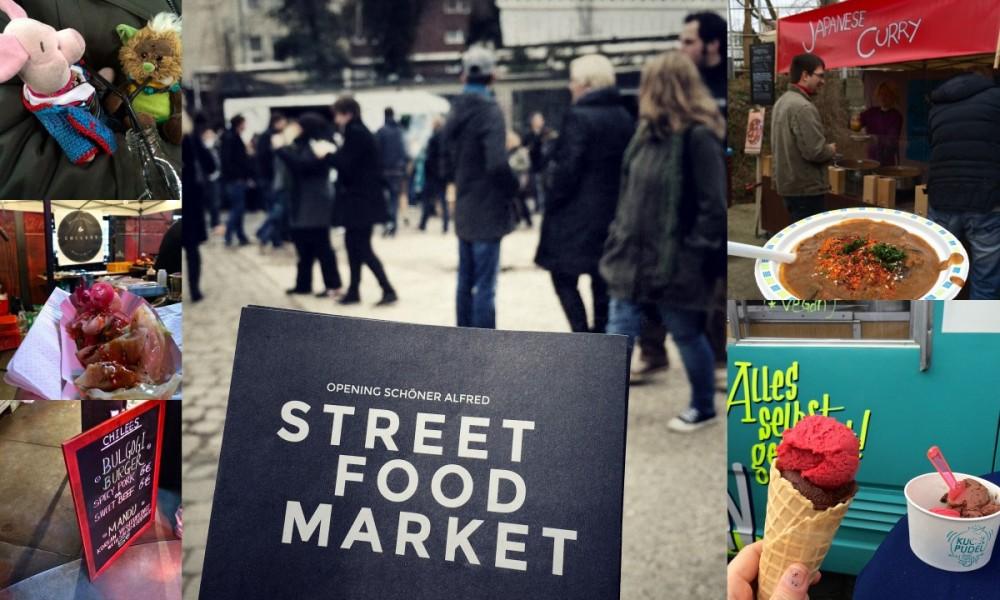 Street Food Market, Schöner Alfred Essen.