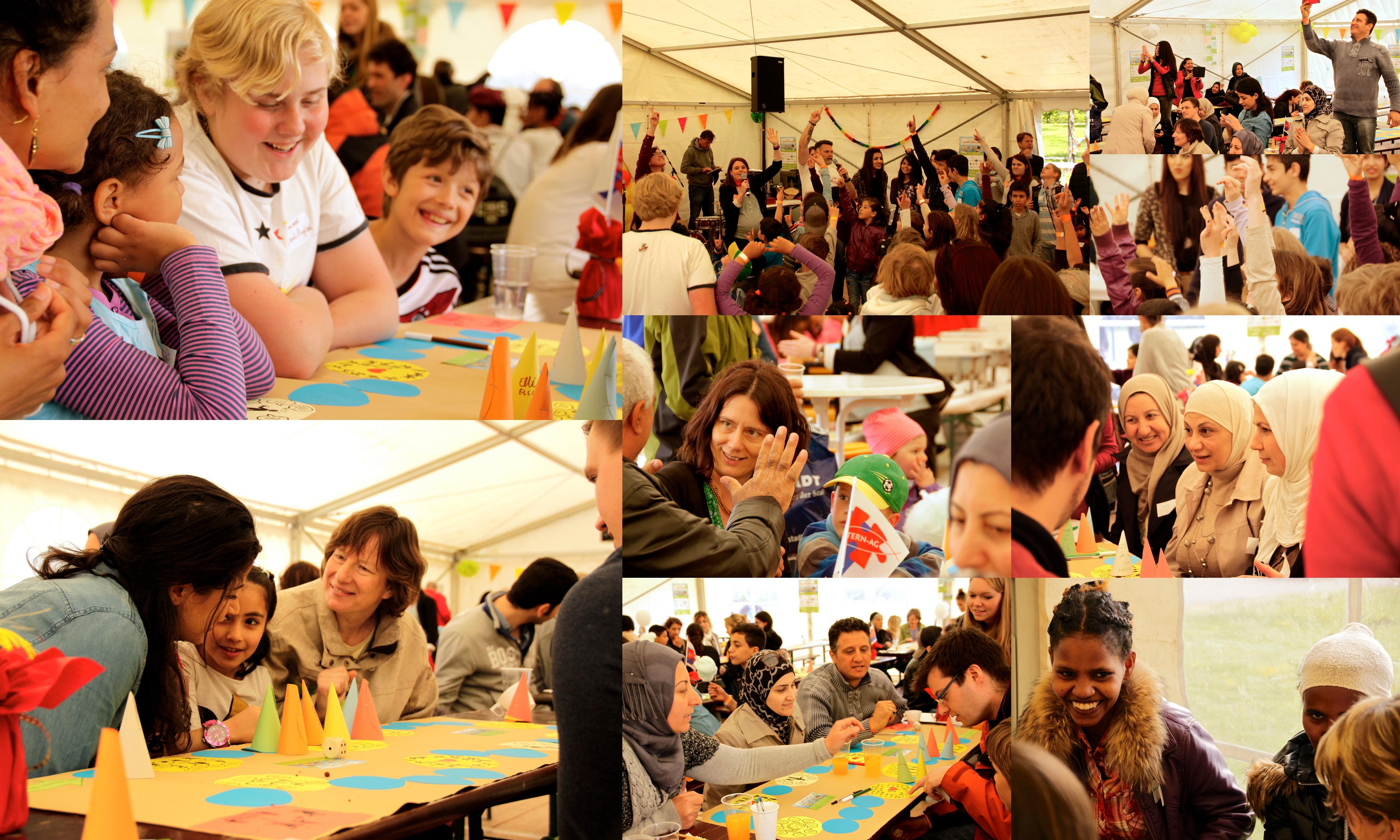 Impressionen vom 1. Internationalen Familienfest im Elbauenpark. 01. Mai 2015