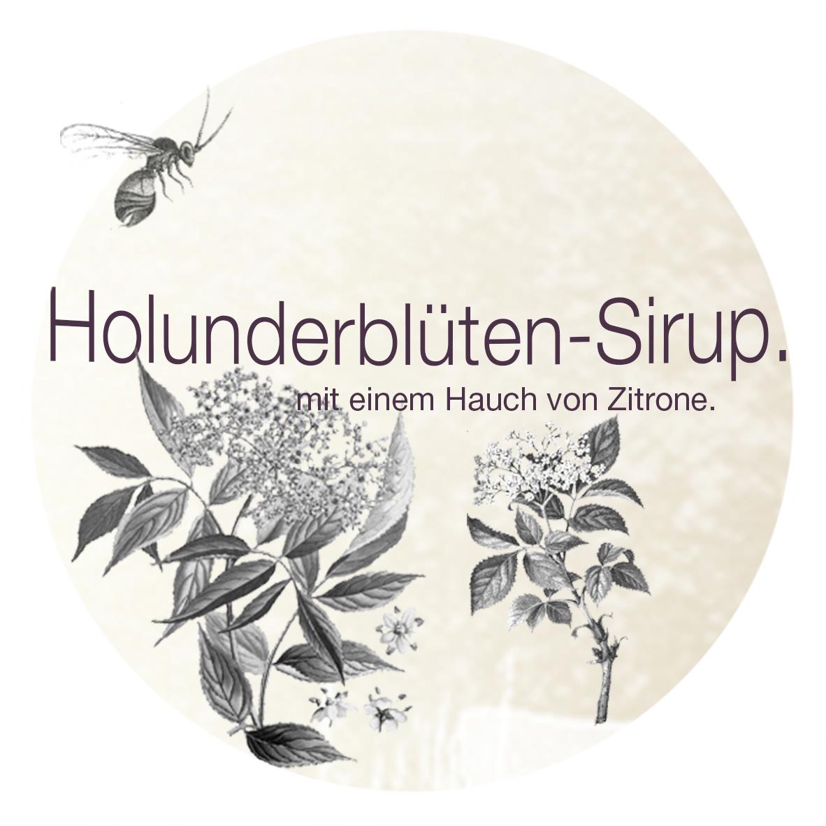 Holunderbüten-Sirup. | Etikett.