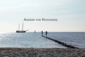 Ankern vor Hiddensee. Foto: kiraton.com
