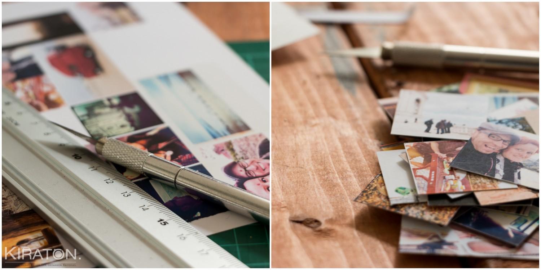 Adventskalender aus Papier: Bilder zurecht schneiden.