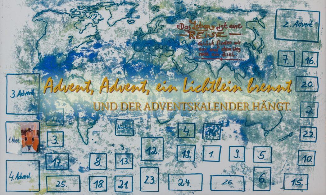 Titelbild: Adventskalender aus Papier.