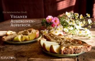 Veganer Auberginen Aufstrich.