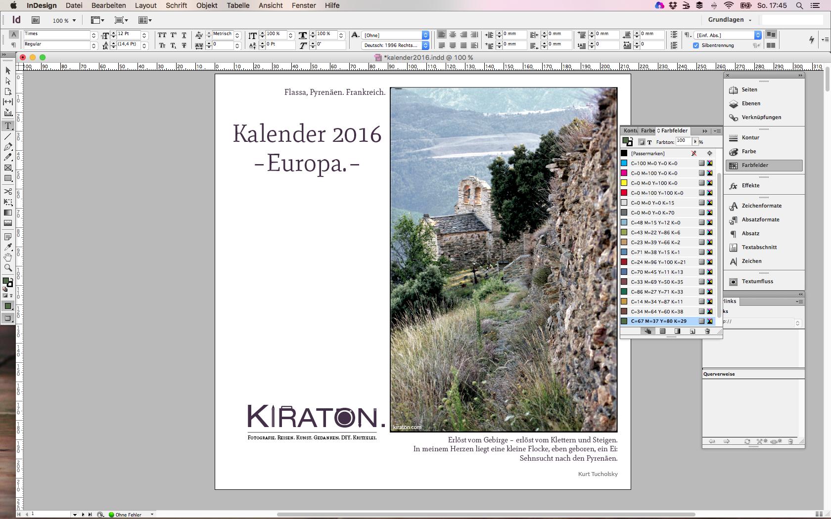 Kalender 2016 | Europa.