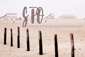 SPO. Endloser Strand, Wind und Wellen.