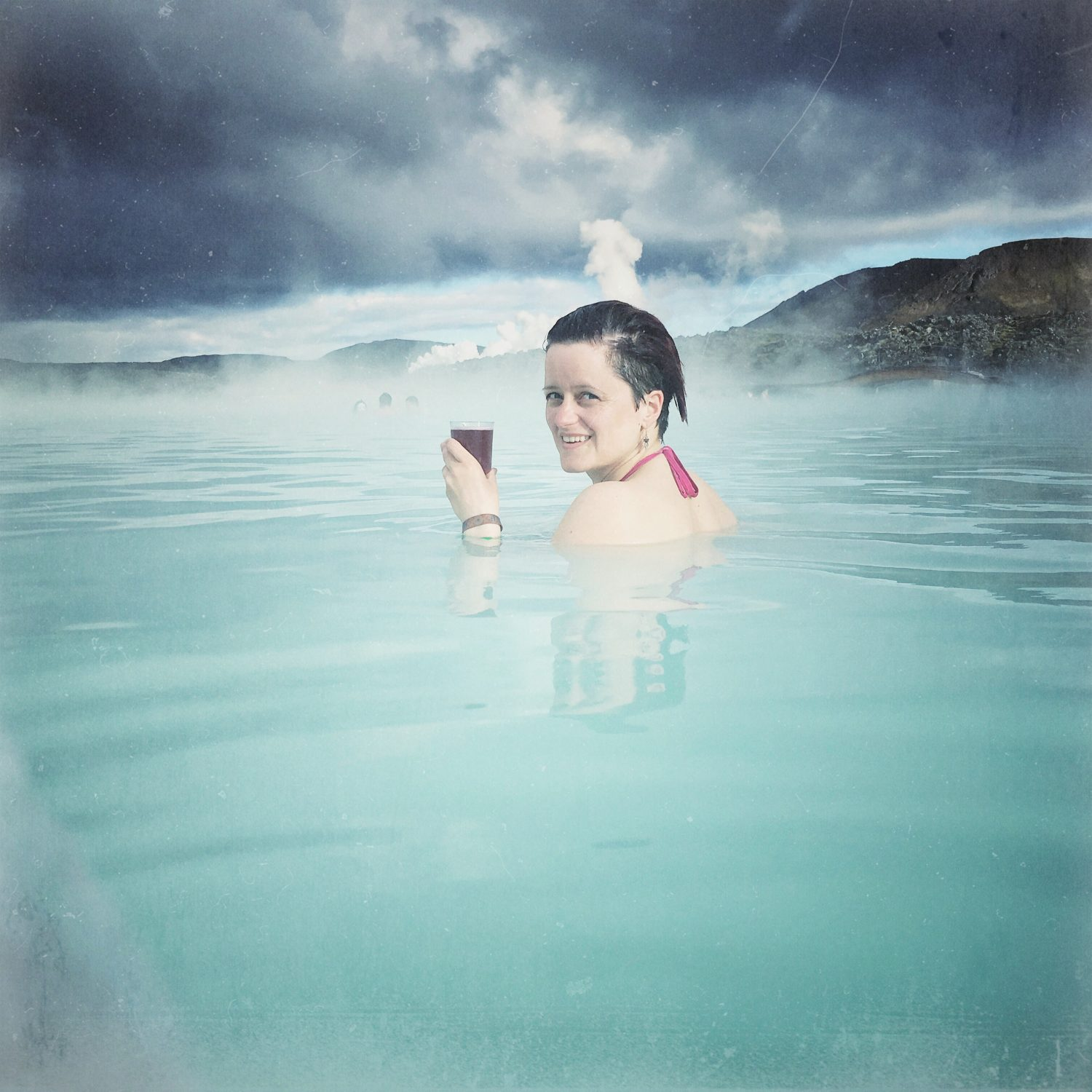 Enjoying the Blue Lagoon.