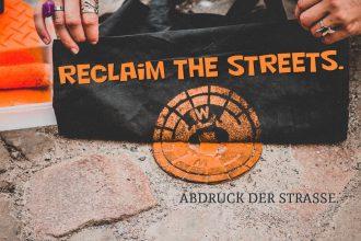 Reclaim the streets. Abdruck der Straße.