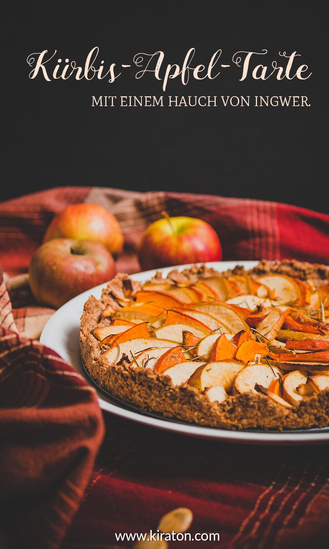 Titelbild: Kürbis-Apfel-Tarte mit einem Hauch von Ingwer. Der Herbst kann kommen.