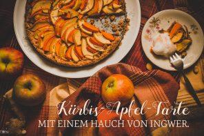 Titelbild: Kürbis-Apfel-Tarte mit einem Hauch von Ingwer