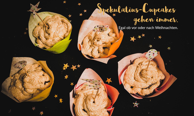 Spekulatius-Cupcakes gehen immer. Egal ob vor oder nach Weihnachten.