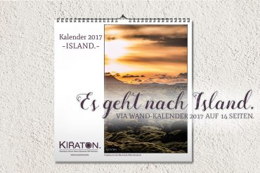 Es geht nach Island – via Wand-Kalender 2017 auf 14 Seiten.