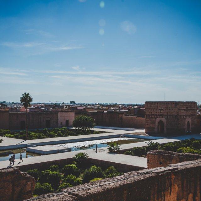 Der El BadiPalast in Marrakesch lsst seine einstige Schnheithellip
