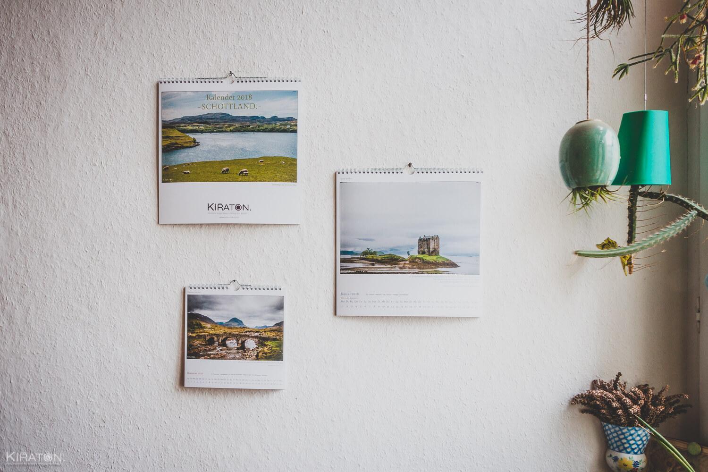 kiraton. Kalender 2018 – Schottland // 2 Größen zur Auswahl